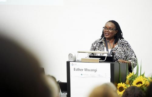 Esther Mwangi, Keynote speaker, Science-policy partnerships for transformation